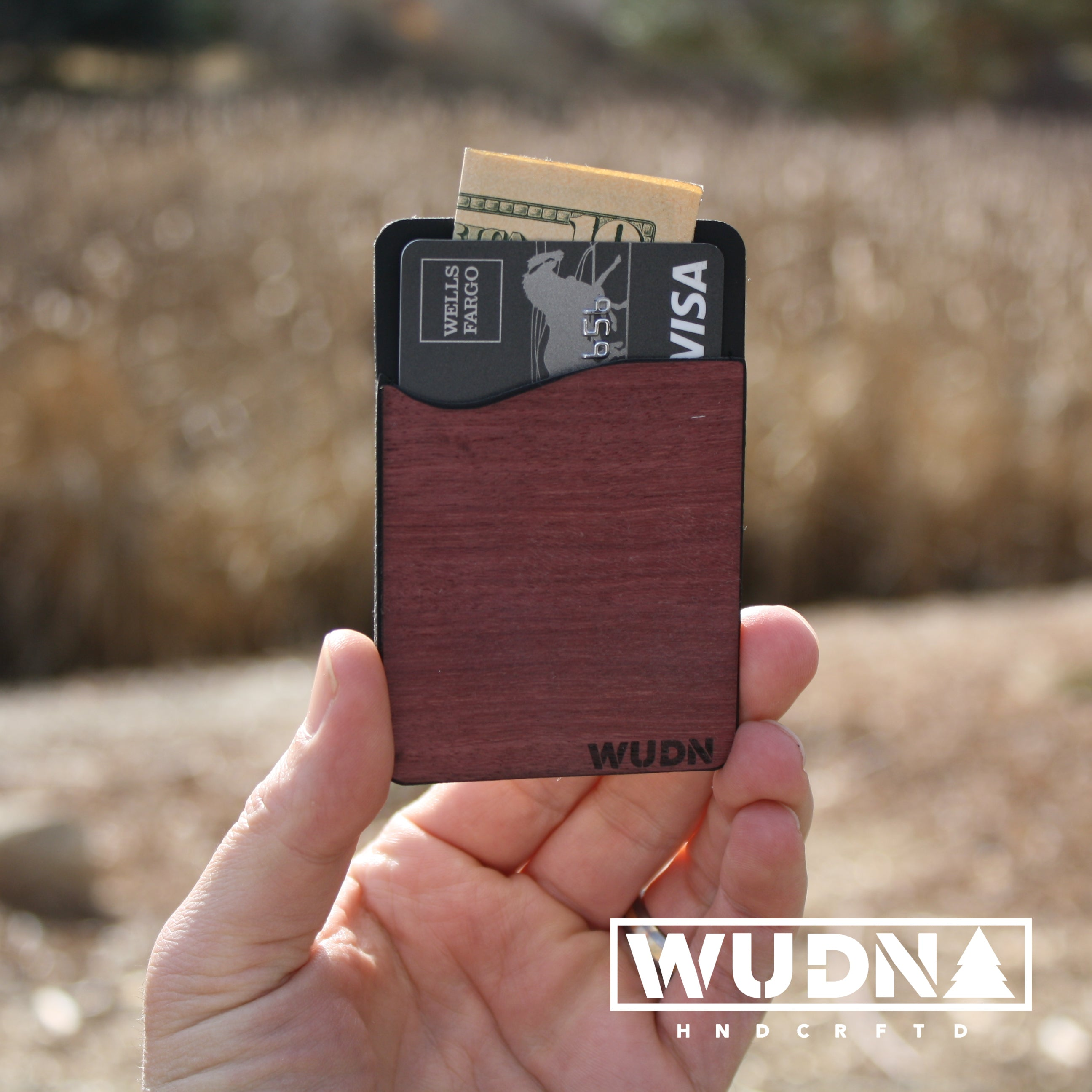 Wooden Phone Wallet