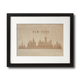 Laser Engraved Wooden Wall Art | CityScape Collection in Shimmering Maple, Home and Office - WUDN