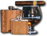 High Quality 6 oz. Wooden Hip Flask - Hand Crafted from Local Wood