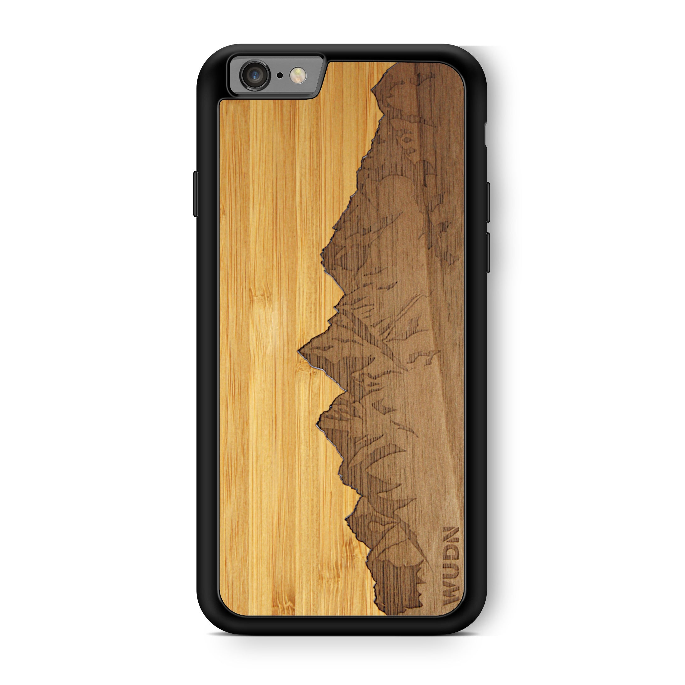 Slim Wooden Phone Case | Sawtooth Mountains Traveler, Cases by WUDN for iPhone 6 Plus / 6s Plus