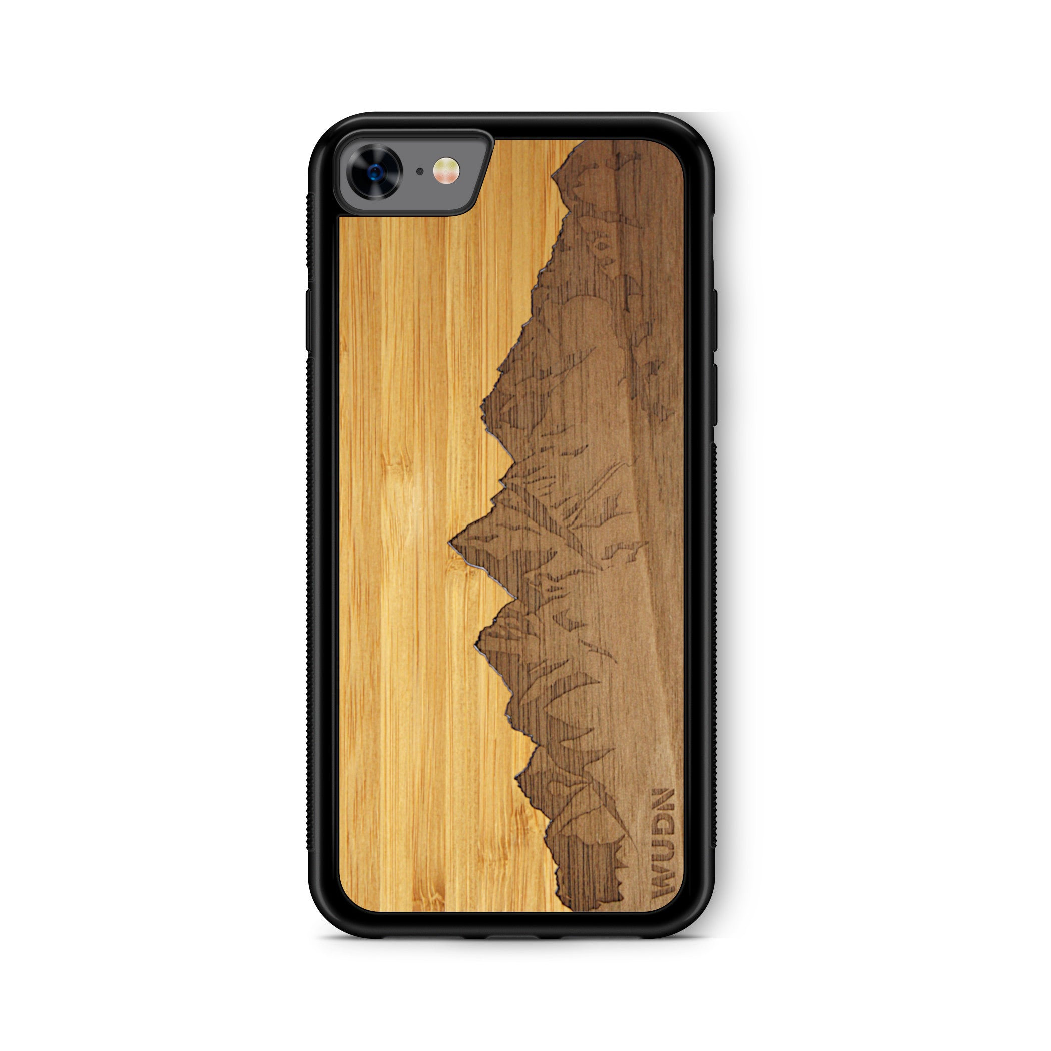 Slim Wooden Phone Case | Sawtooth Mountains Traveler, Cases by WUDN for iPhone 7 / 8 / SE