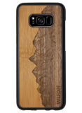 Slim Wooden Phone Case | Sawtooth Mountains Traveler, Cases by WUDN for Galaxy S8