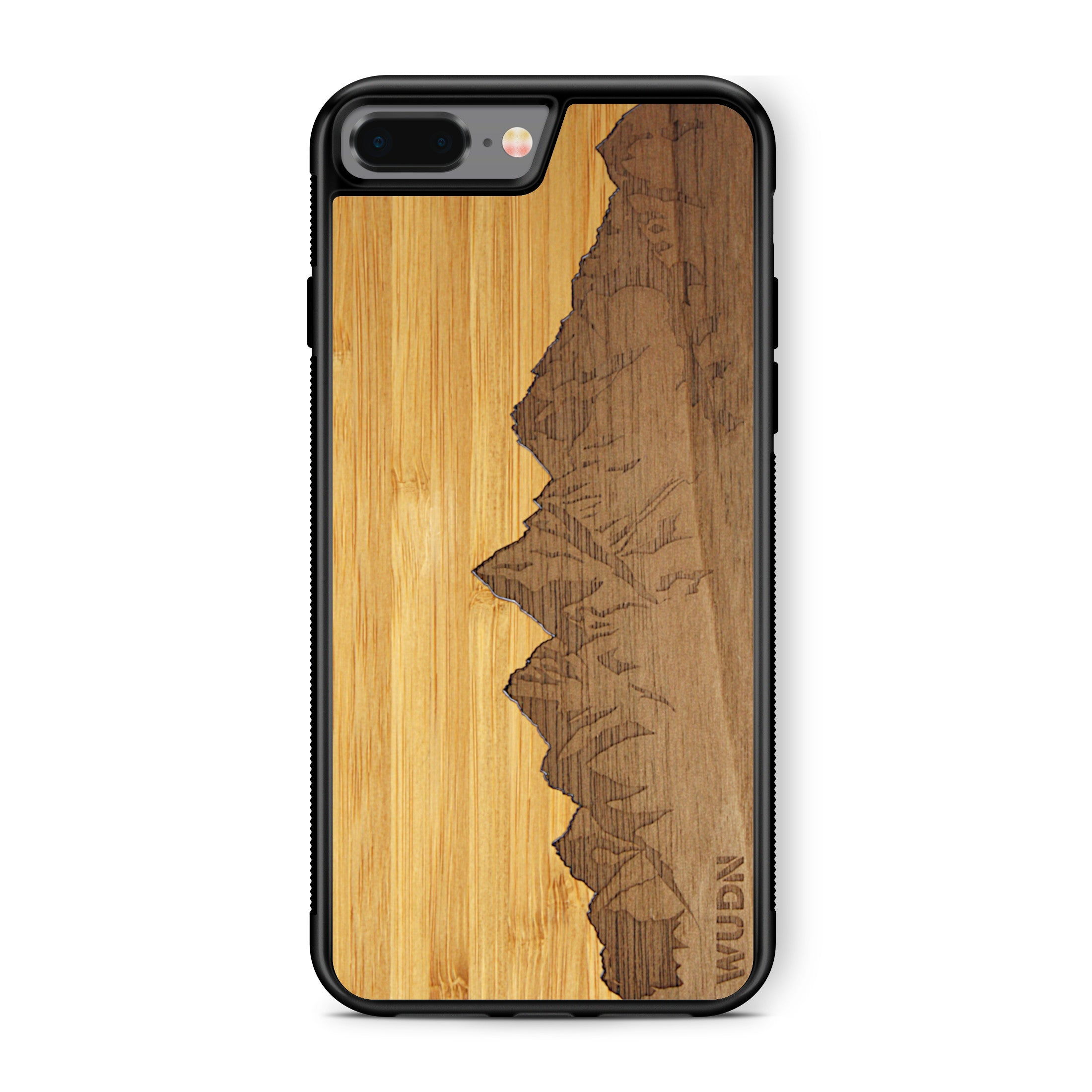 Slim Wooden Phone Case | Sawtooth Mountains Traveler, Cases by WUDN for iPhone 7 Plus / 8 Plus