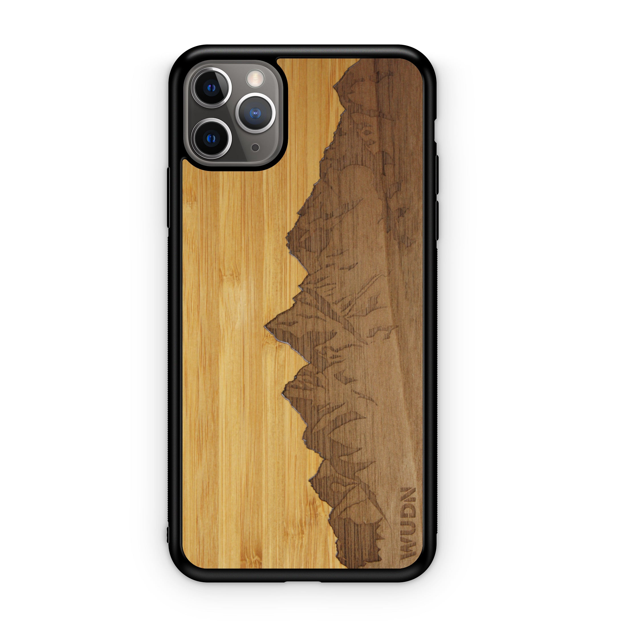 "Slim Wooden Phone Case | Sawtooth Mountains Traveler, Cases by WUDN for iPhone 11 Pro Max (6.5"")"