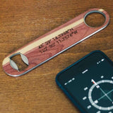 Customizable Industrial Wood Bottle Opener - WUDN - 5
