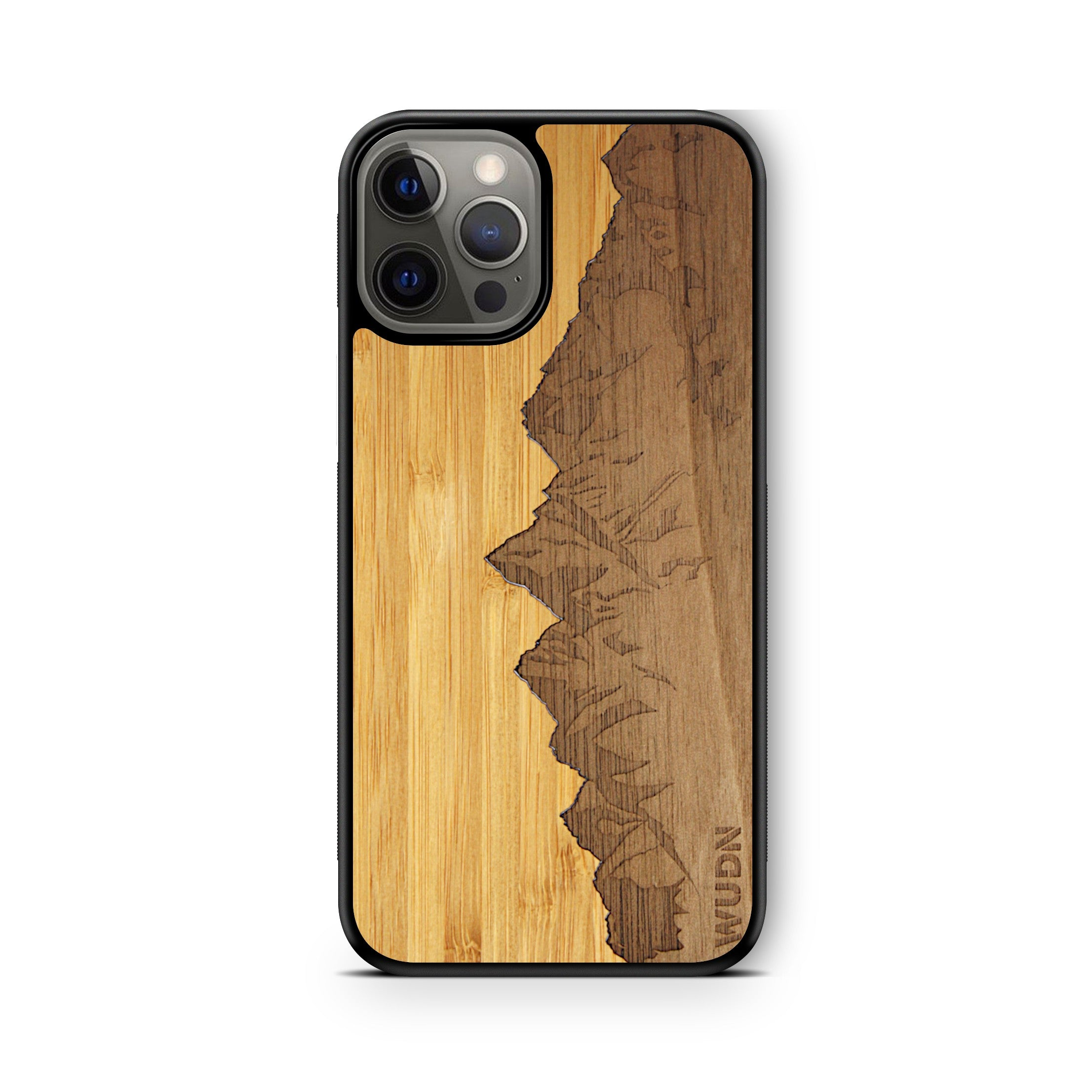 "Slim Wooden Phone Case | Sawtooth Mountains Traveler, Cases by WUDN for iPhone 12 Pro (6.1"")"