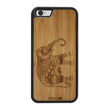 Slim Wooden Phone Case | Artistic Elephant