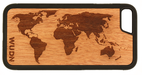 Slim Wooden iPhone Case | World Map Traveler