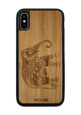 Slim Wooden Phone Case | Bamboo Elephant