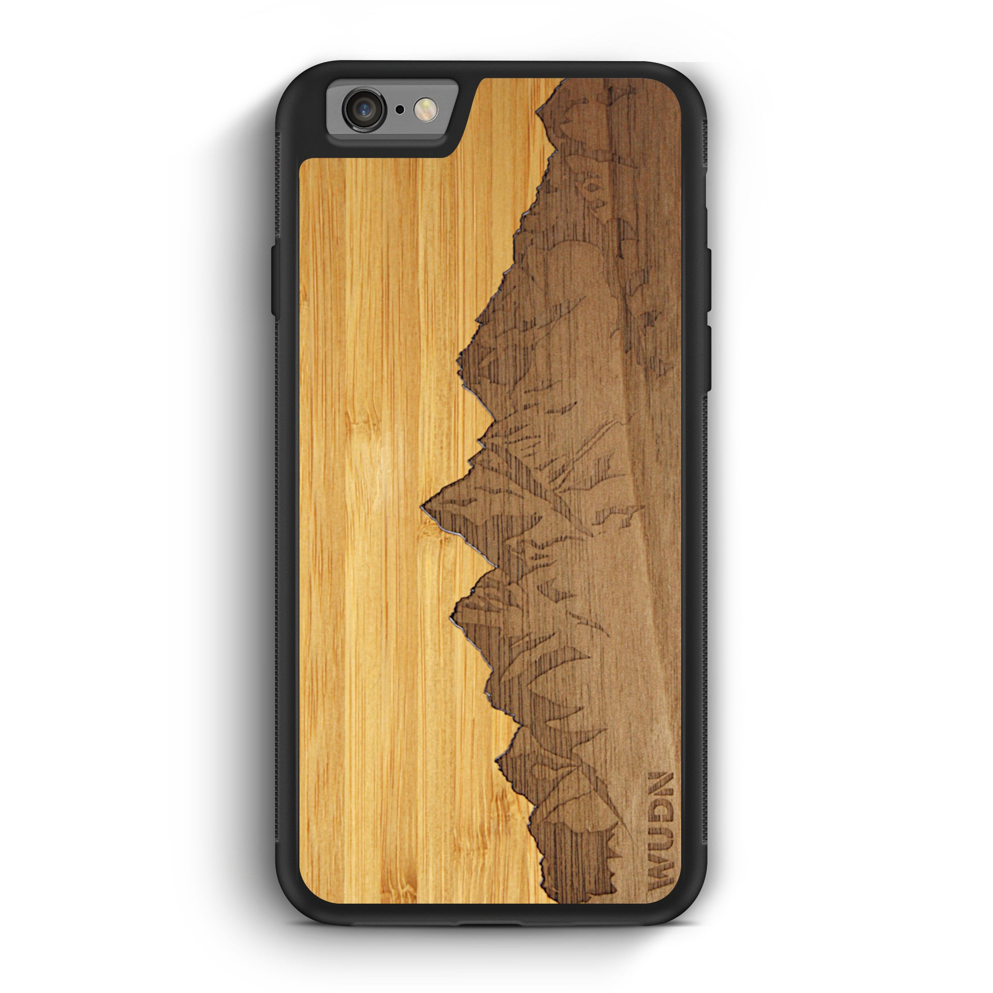 Slim Wooden Phone Case | Sawtooth Mountains Traveler, Cases by WUDN for iPhone 6 / 6s