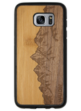 Slim Wooden Phone Case | Sawtooth Mountains Traveler, Cases by WUDN for Galaxy S7 Edge