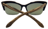 Women's Walnut wooden Cat Eyes, Sunglasses