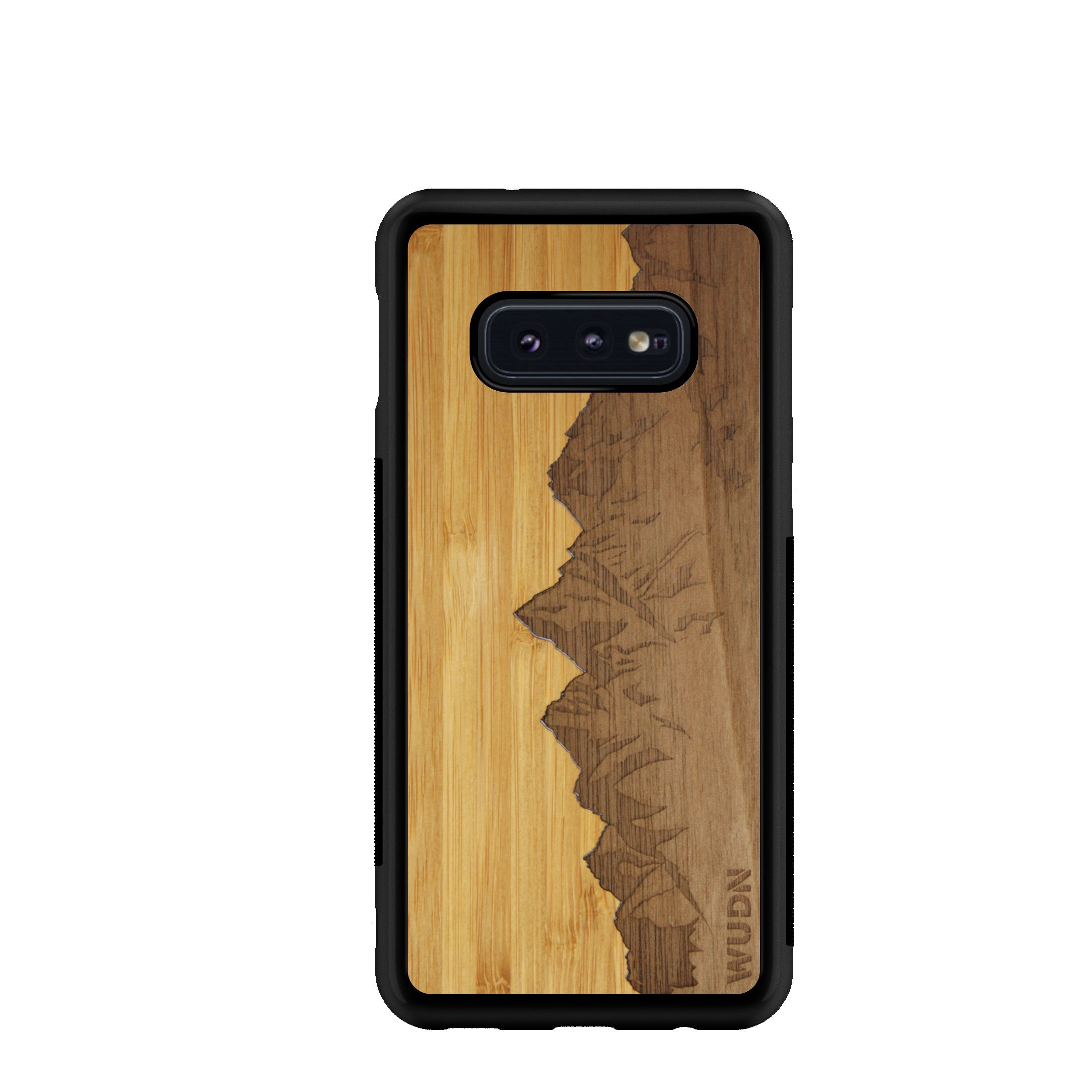 Slim Wooden Phone Case | Sawtooth Mountains Traveler, Cases by WUDN for Galaxy S10