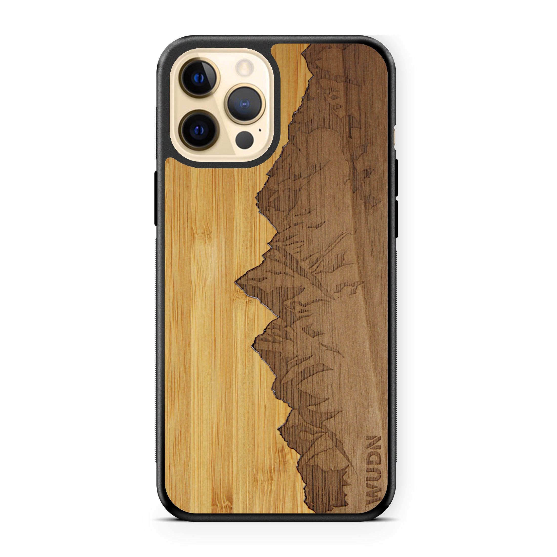 "Slim Wooden Phone Case | Sawtooth Mountains Traveler, Cases by WUDN for iPhone 12 Pro Max (6.7"")"