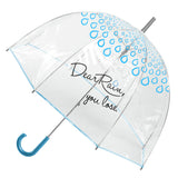 Dear Rain, you lose. Blue Umbrella