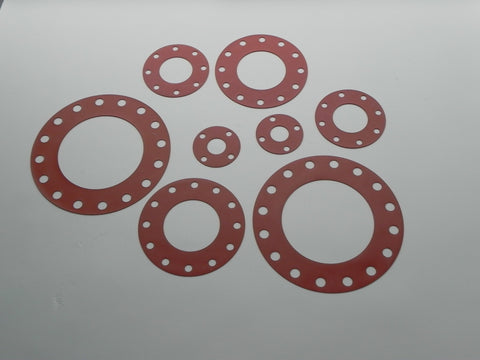 "Full Face Gasket; Class 150; 1/16"" Thick Silicone Material"