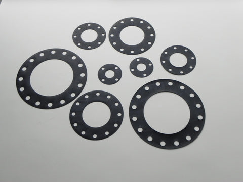 "Full Face Gasket; Class 25; 1/8"" Thick Nitrile (Buna) Material"