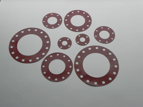 "Full Face Gasket; Class 300; 1/8"" Thick SBR Material"
