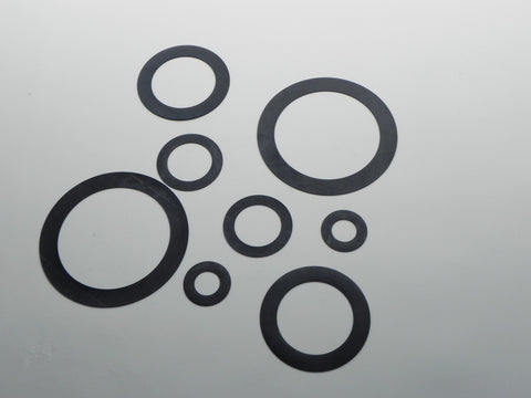"Ring Type Gasket; Class 150; 1/16"" Thick Neoprene Material"