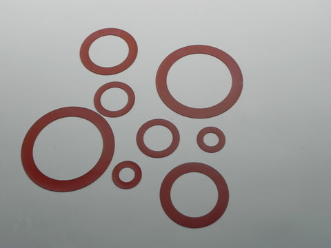 "Ring Type Gasket; Class 25; 1/8"" Thick Silicone Material"