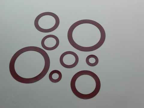 "Ring Type Gasket; Class 400; 1/8"" Thick SBR Material"
