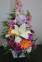 Baby Girl Deluxe Fresh Floral Arrangement