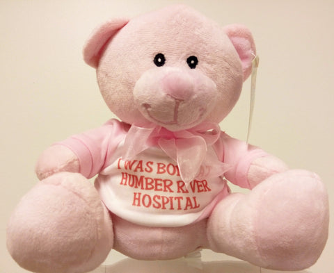 I was Born at Humber River Hospital Bear, Pink