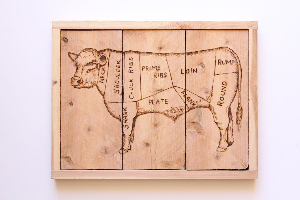 Cow Butcher Sign