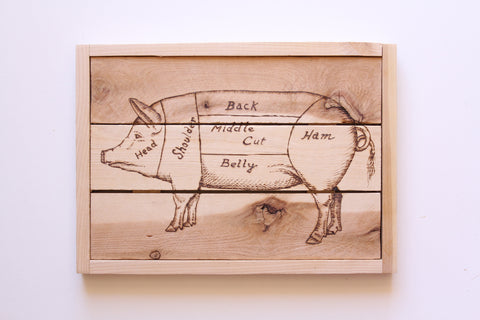 Pig Butcher Sign