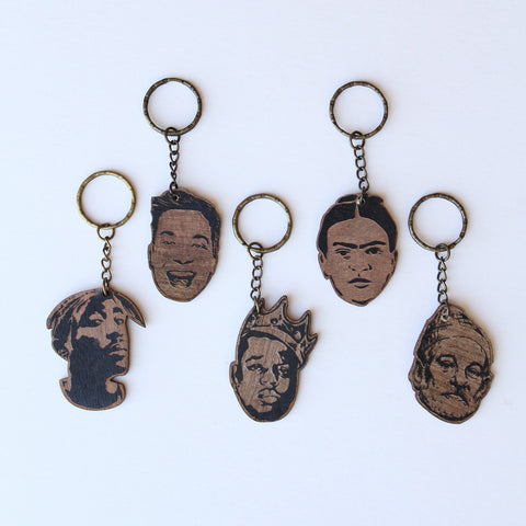 Famous Faces Keychains