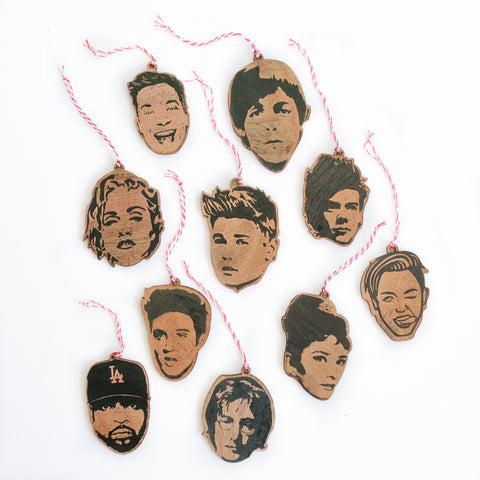 Famous Faces Ornaments