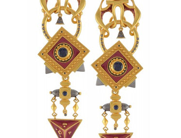 Lapis Chandelier Earrings