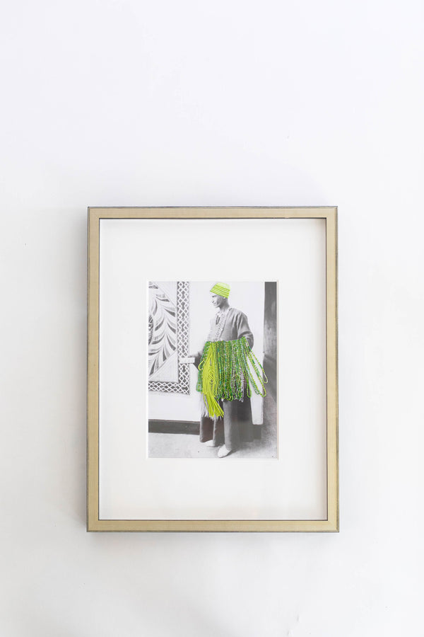 Embroidered Photograph | Bead Salesman
