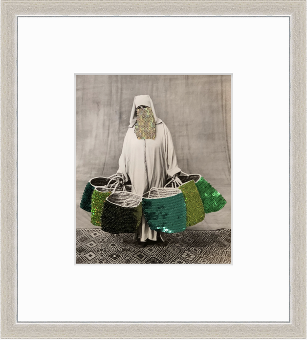 Embroidered Photograph | Bag Lady