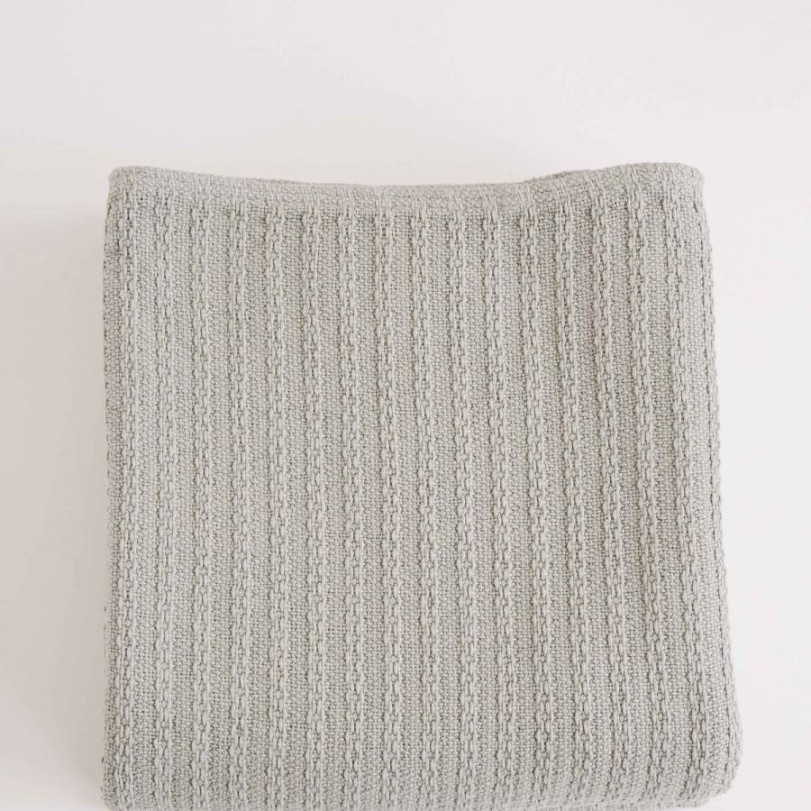 Cotton Cable Knit Blanket | Full/Queen