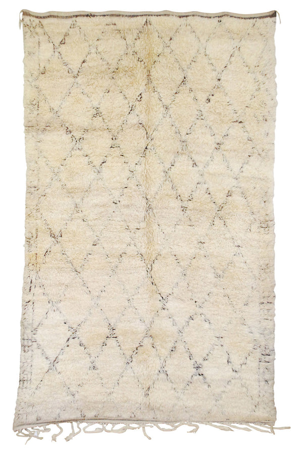Vintage Moroccan Wool Beni Ourain Rug | 200140