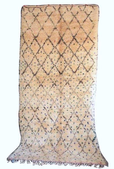 Vintage Moroccan Wool Beni Ourain Rug | 27740
