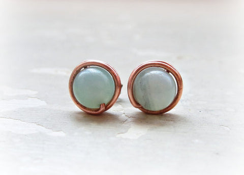 Contempo Jewelry Amazonite Stud Earrings