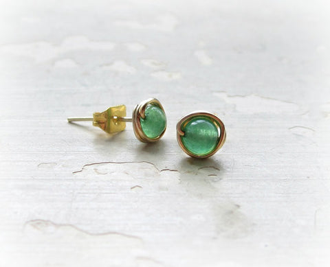 Contempo Jewelry Aventurine Stud Earrings