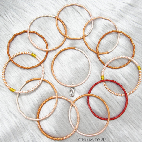 Fall Toned Bracelet Bangle Stack set of (12)