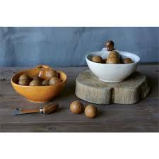 Round Ceramic Pumpkin Bowl With Canape Knife