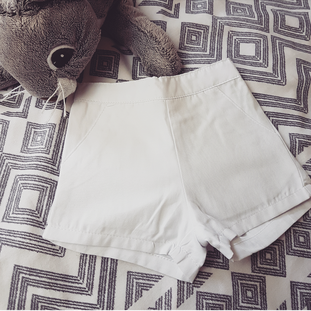 White Spanish Baby shorts