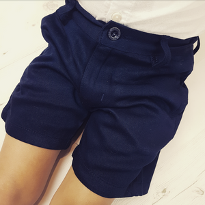 Navy Spanish boys shorts   11-12Y ONLY