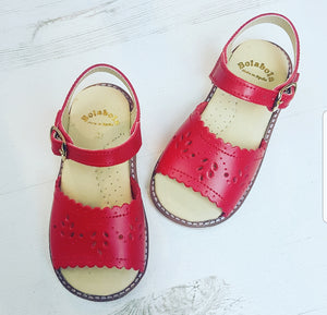 spanish grls sandals, retro sandals, kids sandals, white sandals, red sandals