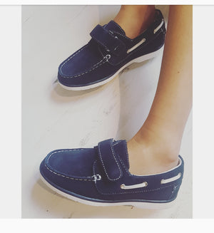 Boys loafer Boat Smart Shoes NAVY 12.5 to 3 EU31 TO 36