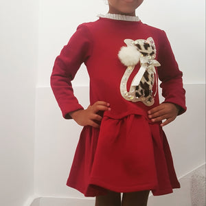 Cat Sweater Dress 3y to 12y