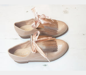 ZARA Tassle Shoes Girl Glitter 12.5 to big girl 3   EU31 TO 36