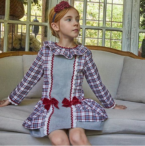Rita Tartan Dress Girls 3y to 12y