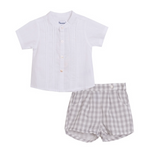 JACCY Spanish boys shirt short set   1m 3m left