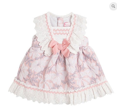 Spnish baby girls dress lotty pink 3m 6m 9m 12m 18m 24m